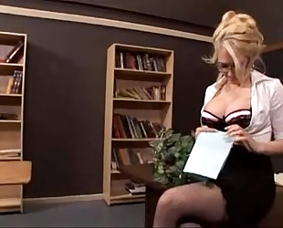Sexy blond teacher drilled - facialxvideos.com