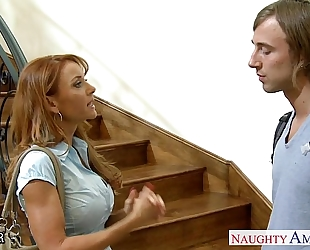 Hottie teacher janet mason receives facialized